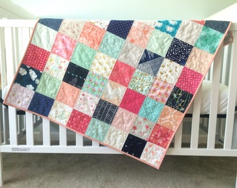 Patchwork Baby Girl Quilt