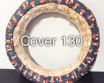 Orange Fox Print Steering Wheel Cover