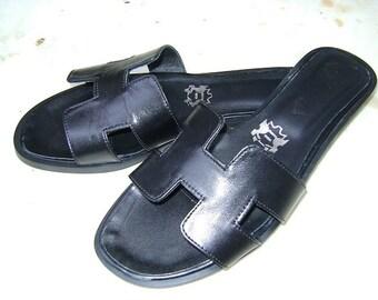 Black  handmade sandals H