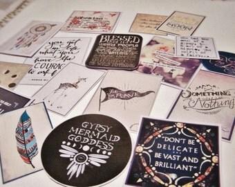 Bohemian Planner Diary Die Cut Stickers
