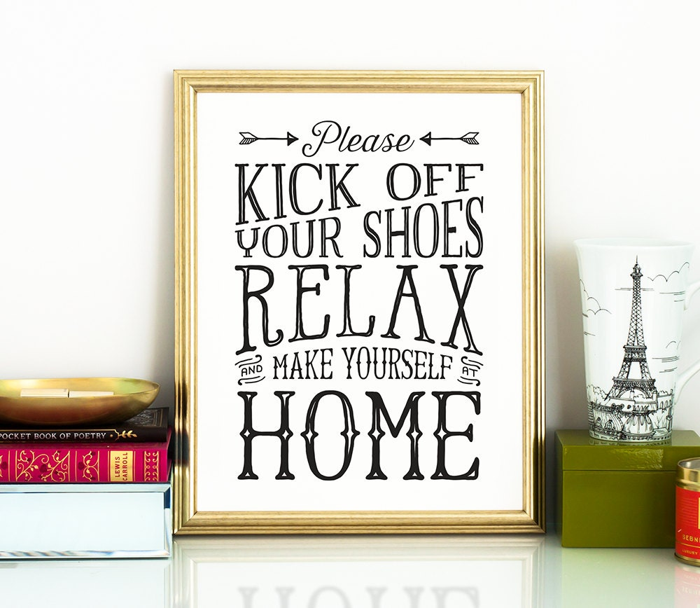 Take Your Shoes Off Sign Kick Off Your Shoes Printable Art