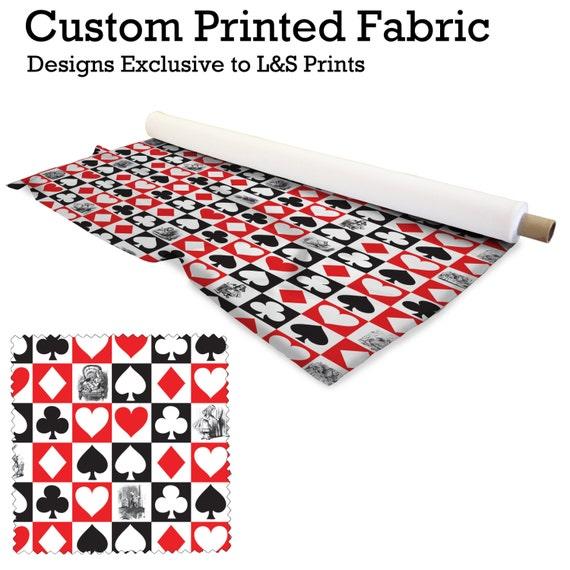 alice in wonderland card design fabric 2 way stretch lycra. Black Bedroom Furniture Sets. Home Design Ideas
