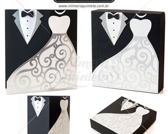 Card and Box Groom and Bride Pack