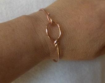 5004 Hammered Copper Bangle