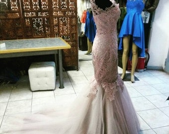 Wedding dress Mermaid model.