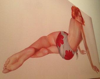 Pin-up Alberto Varga Vargas WWII 1943 canvas art pinup