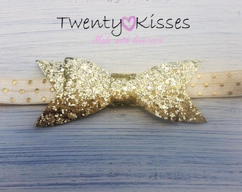 Baby hair bows,newborn bows,gold bows,baby gold bow,newborn gold bow,baby headband,sparkle headband,gold headband,toddler,baby gold headband