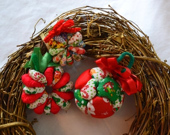 Handmade Quilted Ornament Set