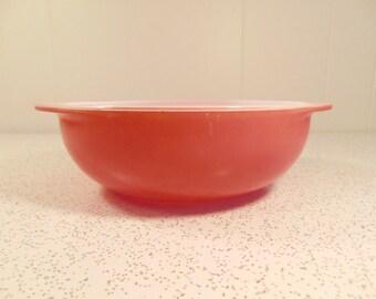 Vintage Pyrex Pink Bowl - Flamingo Pink Casserole Dish - 2 Quart - 024