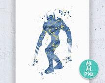 25% OFF: Wolverine X-Men Print X-Men Art X-Men Poster X-Men Print Watercolor Printable Superhero Poster Boys Poster Instant Download