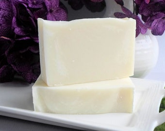 Purity - Unscented Handmade Cold Process Soap, Artisan Bar Soap, Pure Natural Soap