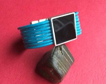 MADE in EUROPE black enamel slider, black square slider, 20mm slider, 20mm black slider (X5962AS) qty1