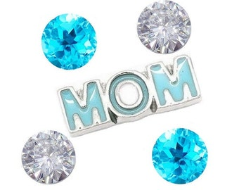 MOM Turquoise Floating Charms fits All Brands of Floating Lockets