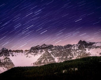 Landscape Photography - Starry Colorado Night | Telluride Colorado Mountains | Star Trail | Canvas and/or Print