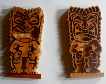 Hawaiian Tiki statue wall hanging, for your tiki bar at home or your Hawaiian decorated home for an island feel
