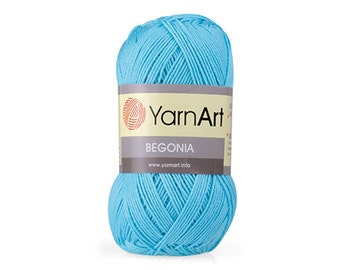 BEGONIA Yarnart 100% mercerized cotton yarn for crochet and knitting  50g - 169m