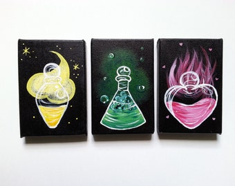 Potion Paintings for the Dungeon (or office)