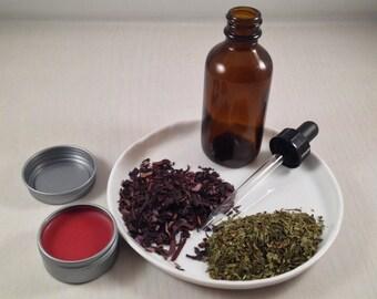 Blossom - Lip Balm Alkanet Root Peppermint Geranium - Natural Vegan Skincare