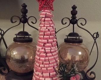 Mini Christmas Tree, Burlap Christmas Tree