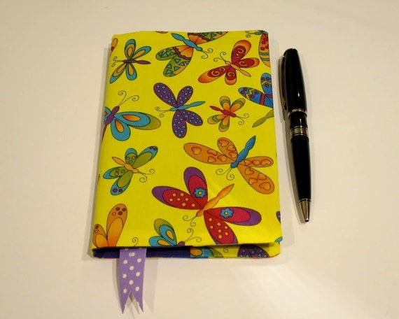Fabric Book Covers Uk ~ Fabric book cover with bookmark suits a notebook bonus
