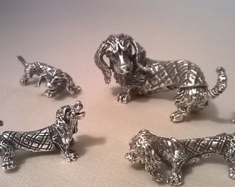 Silver statuettes,figurines . Antique. Finely modeled. Very beautiful.