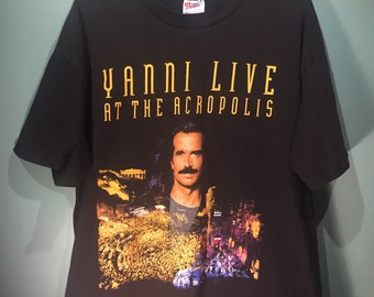 1994 RARE Yanni Live at the Acropolis - The Symphony Concerts - New Age Music - spiritual magical world fusion size XL