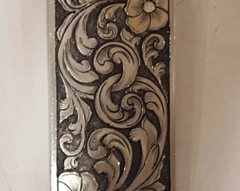 Money Clip, Hand Engraved