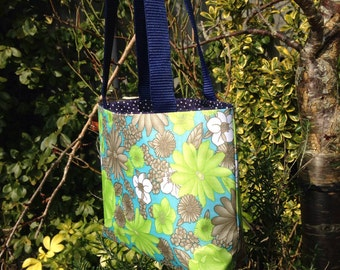 Lime green bold flower shoulder bag by Perfectly Fine Designs