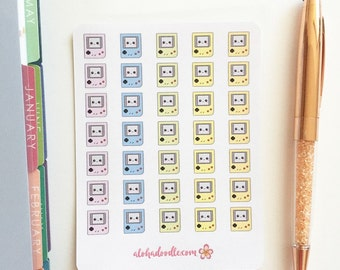 Kawaii Video Game Planner Stickers