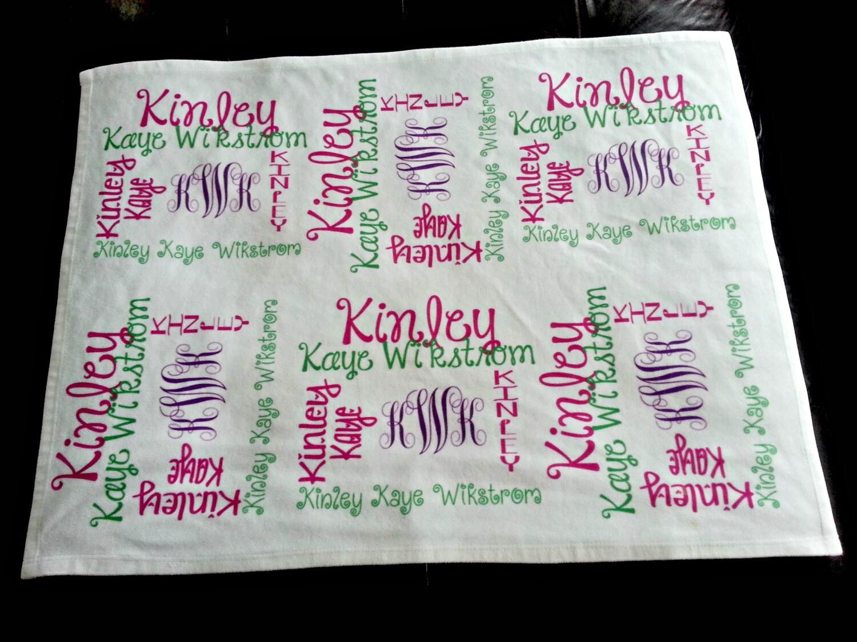 Personalized Baby Blanket Baby Name Blanket by TheBlanketLoft
