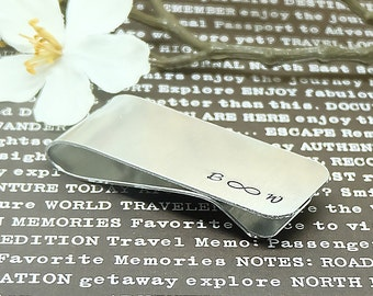 Personalized Money Clip - Custom Money Clips, Groomsmen Gift, Wedding Gift, Gift for Man, Dad Est. gift, Father's Day gift.