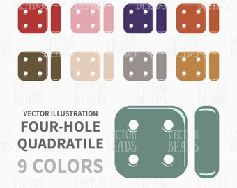 CzechMates Quadratile Bead Clipart Pack - ai, eps, pdf, png