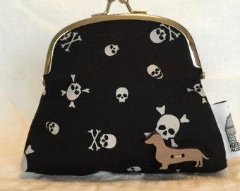 Dachshund,Whippet/Greyhound, Frenchie/Boston terrier,Pug Kiss lock Coin Purse