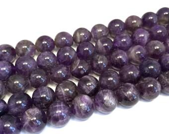 10mm Natural Sage Amethyst Full Gemstone Strand (38 Round Beads)