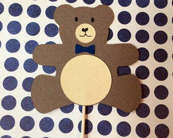 Teddy Bear, Brown Bear Cupcake Toppers