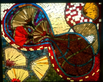 Mosaic Glass Abstract