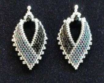 Black Russian Leaf Earrings