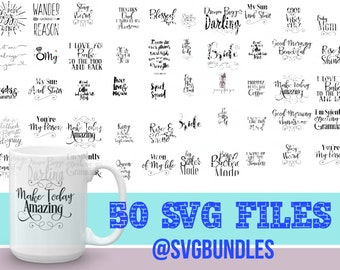 SVG Bundle - Coffee Mug - T-shirt -Tank Svg - Commercial Use - Iron on - Sale - svg Files - Cameo - Cricut- Vinyl Cutting - Instant Download