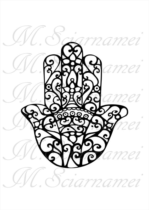hamsa coloring pages - photo#18