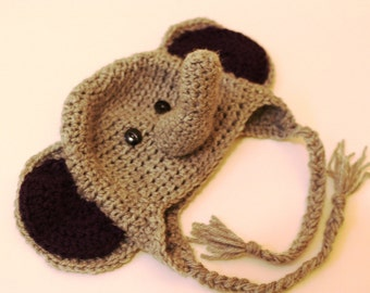 All Sizes - Crocheted Elephant Toque Hat