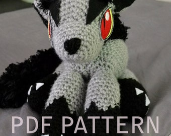Cuddly Pokemon Mightyena Amigurumi Pattern