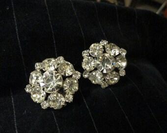 Gorgeous Vintage Rhinestone Earrings