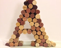 Wine cork monogram A letter