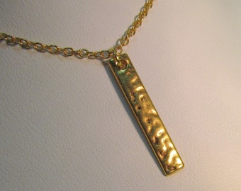Simple Bar Pendant Gold/Silver Necklace