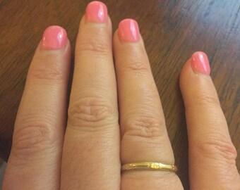 Vintage 1940's 14 Karat Gold Orange Blossom Ring.