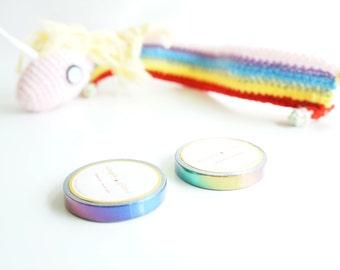 Bold metallic rainbow skinny foil washi