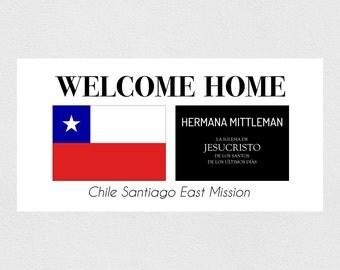 Custom Welcome Home Missionary Banner // Digital Download // 2' x 4' // LDS Welcome Home Mission Banner // LDS Printable // Custom Print