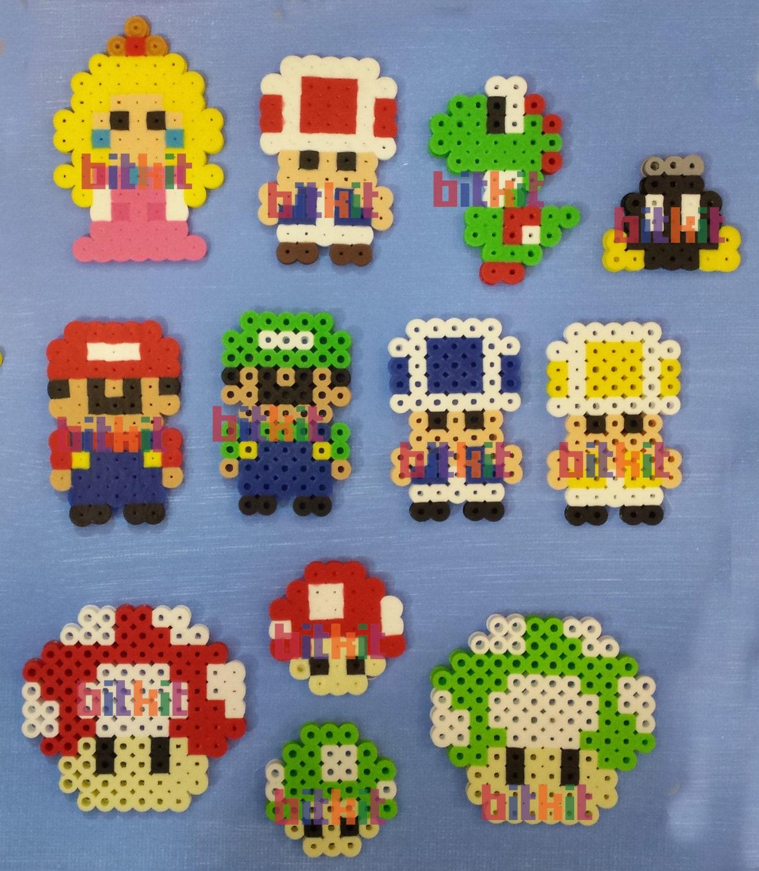 Super Mario Bros Diy Fuse Bead Kits And Figures 14x14