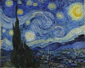 Starry Night by Vincent van Gogh PDF Cross Stitch Pattern