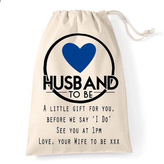 Wedding Gift For Husband To Be : Wedding day Husband to be personalised gift bag A gift bag for your ...